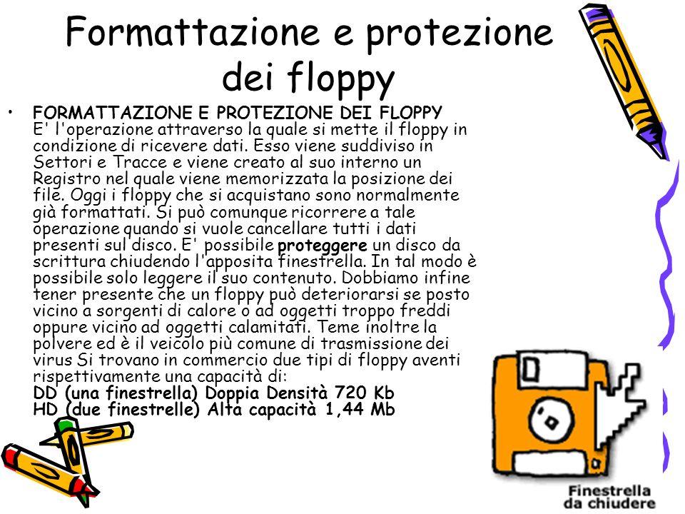 Formattazione e protezione dei floppy