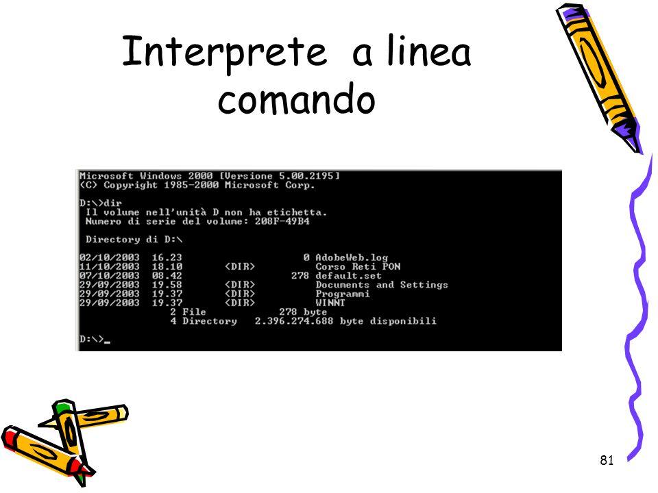 Interprete a linea comando