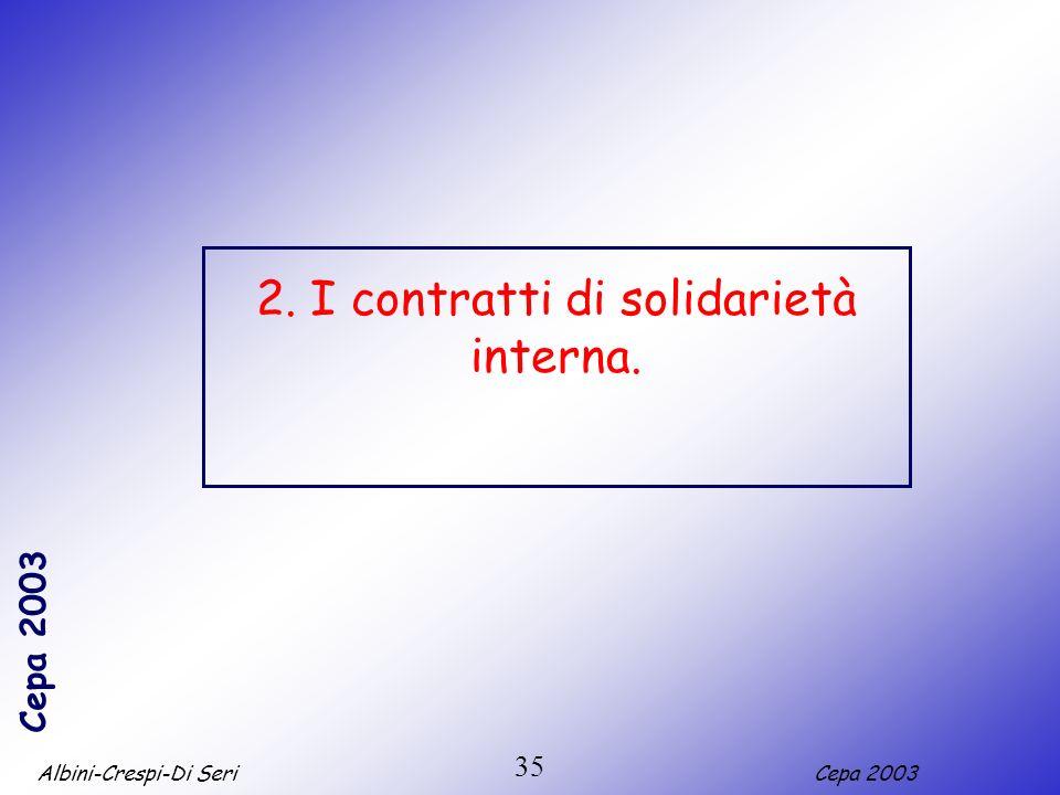 2. I contratti di solidarietà interna.