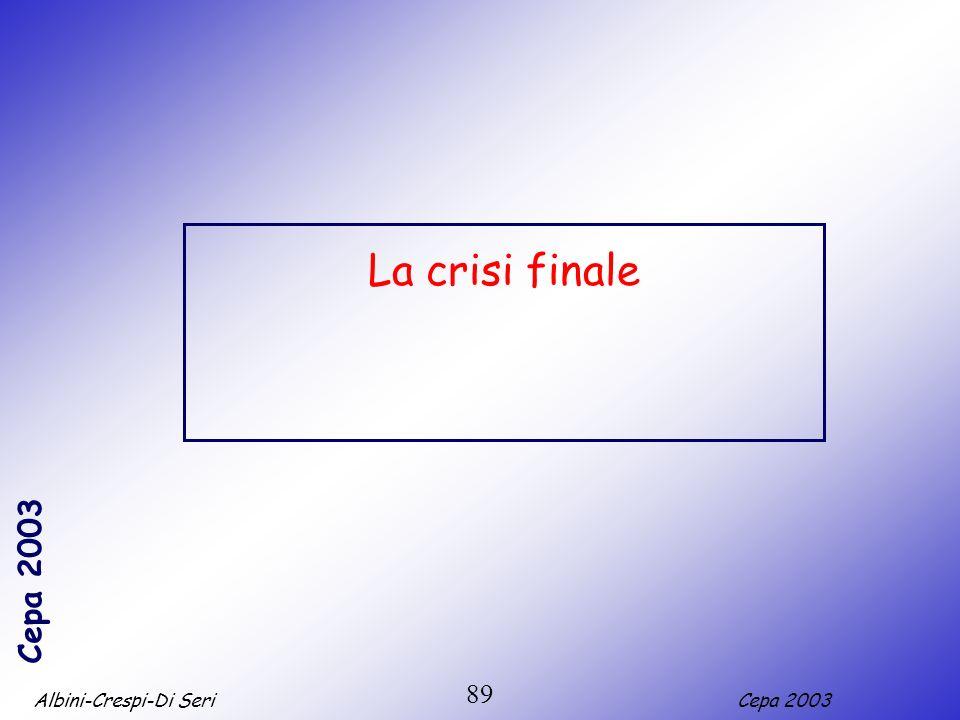 La crisi finale 89