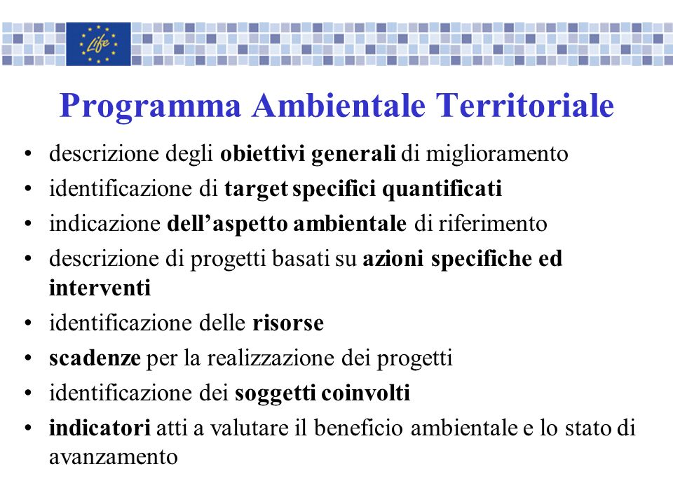 Programma Ambientale Territoriale