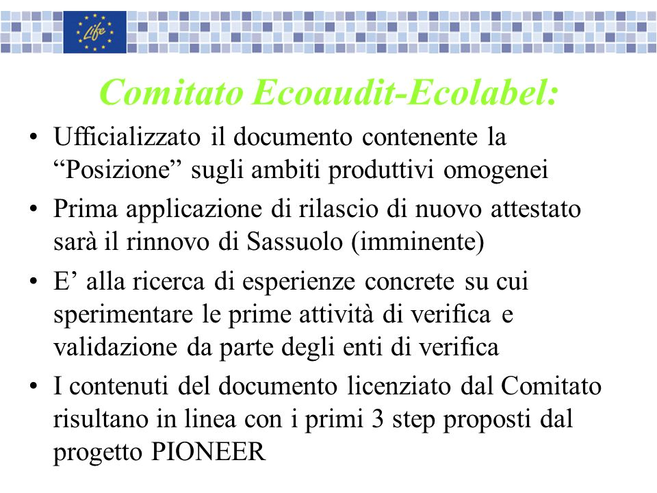 Comitato Ecoaudit-Ecolabel:
