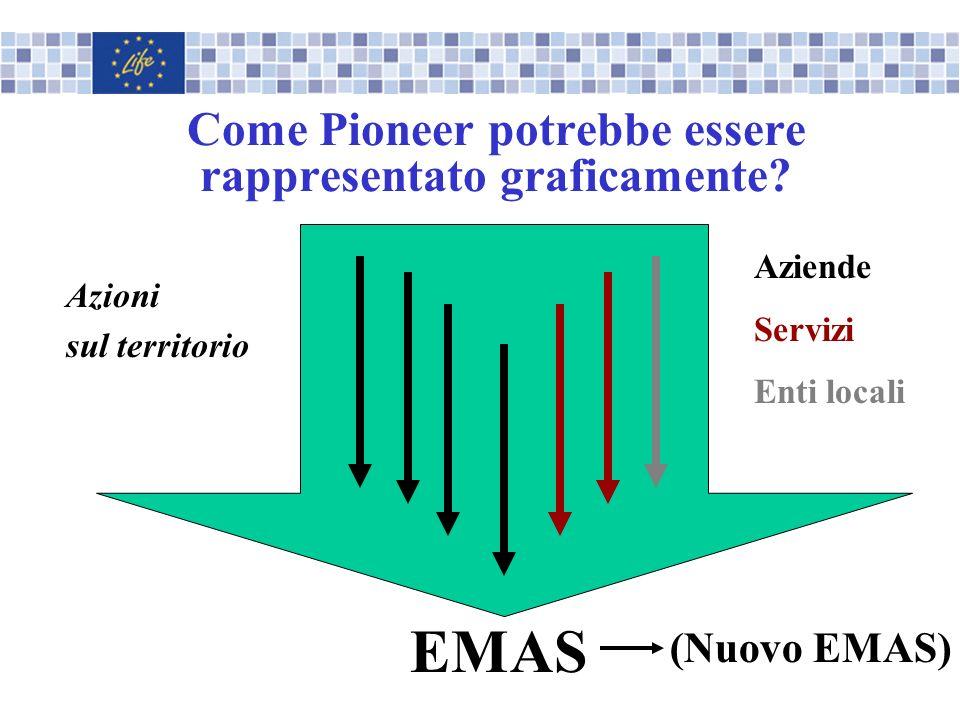 Come Pioneer potrebbe essere rappresentato graficamente