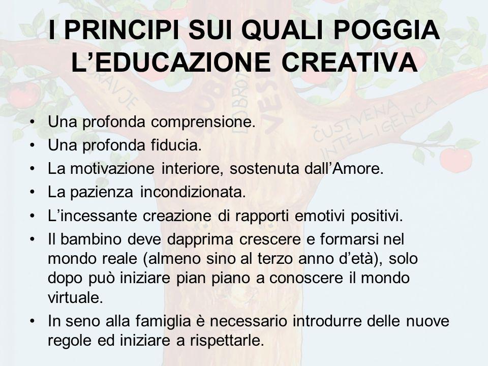 I PRINCIPI SUI QUALI POGGIA L'EDUCAZIONE CREATIVA