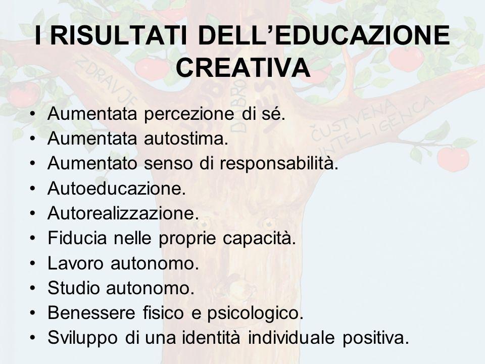 I RISULTATI DELL'EDUCAZIONE CREATIVA