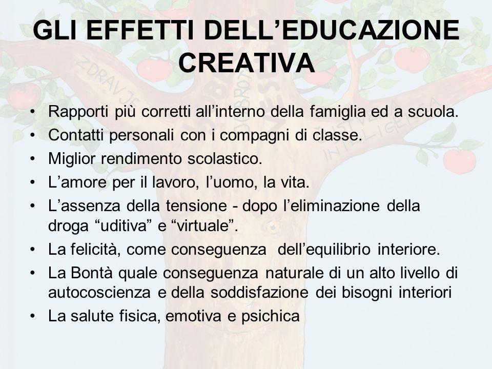 GLI EFFETTI DELL'EDUCAZIONE CREATIVA