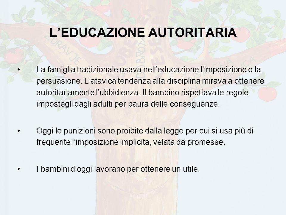 L'EDUCAZIONE AUTORITARIA