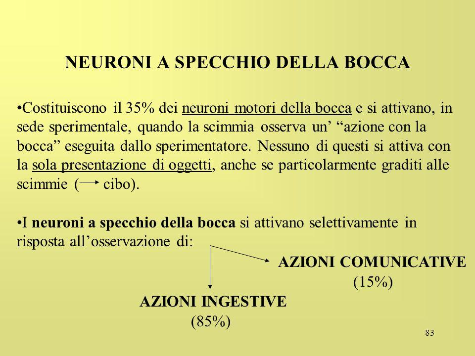 NEURONI A SPECCHIO DELLA BOCCA
