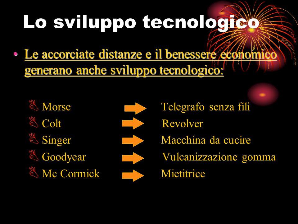 Lo sviluppo tecnologico