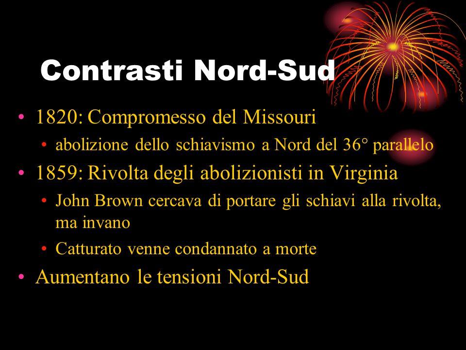 Contrasti Nord-Sud 1820: Compromesso del Missouri