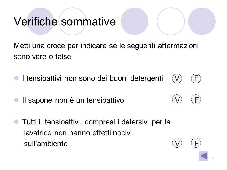 Verifiche sommative Metti una croce per indicare se le seguenti affermazioni. sono vere o false.