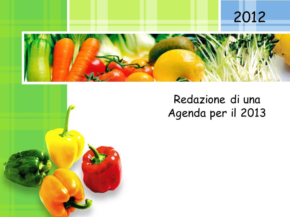 Redazione di una Agenda per il 2013