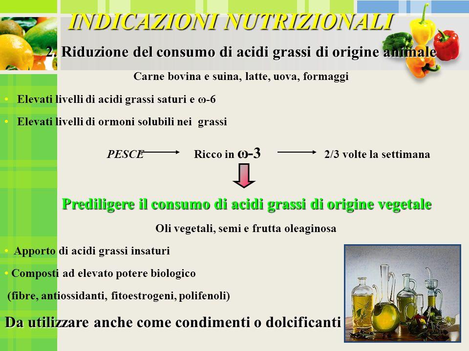INDICAZIONI NUTRIZIONALI