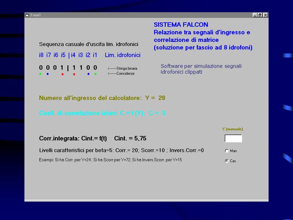 Software per simulazione segnali idrofonici clippati