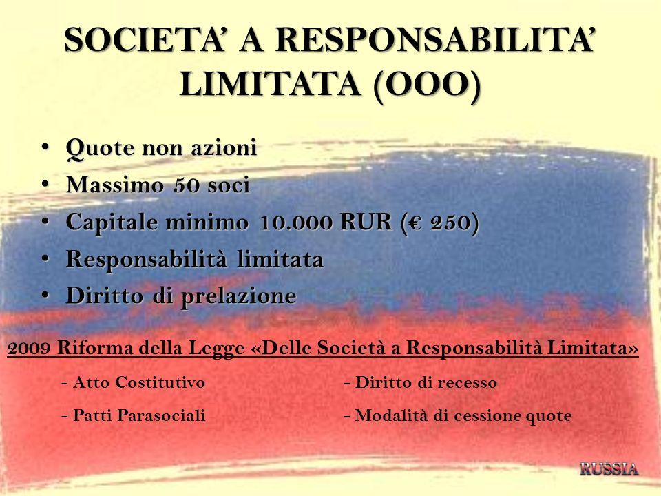 SOCIETA' A RESPONSABILITA' LIMITATA (OOO)