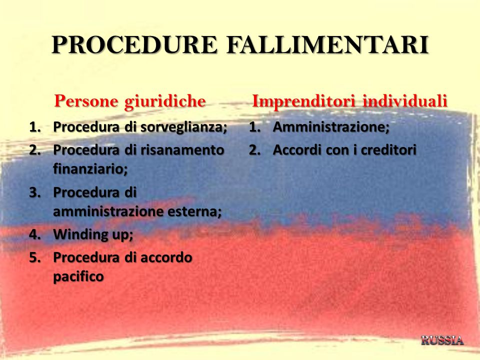 PROCEDURE FALLIMENTARI