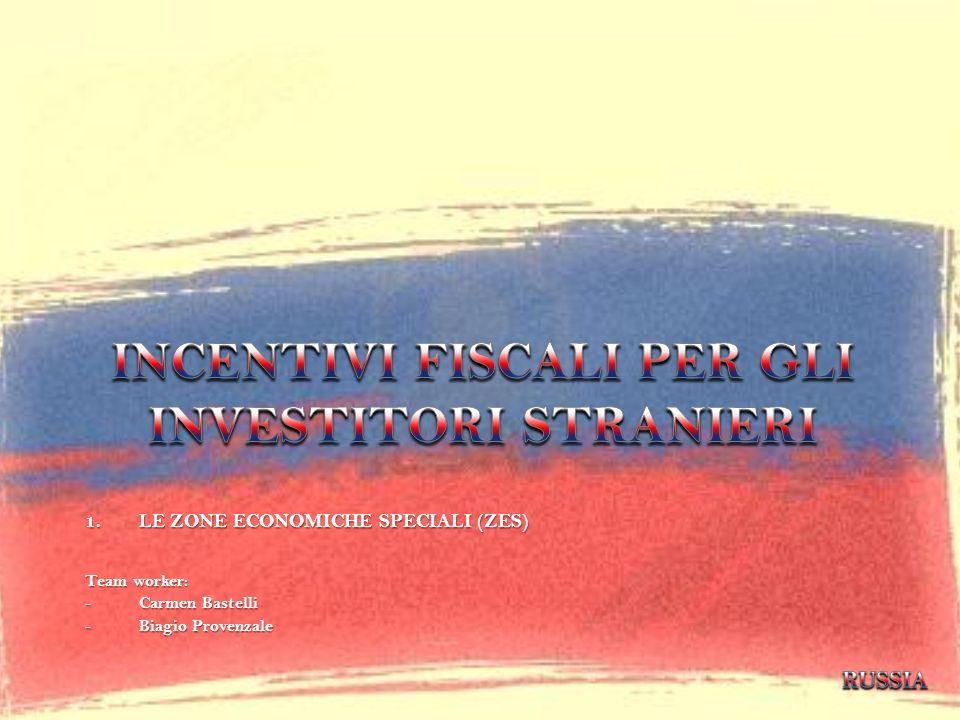 INCENTIVI FISCALI PER GLI INVESTITORI STRANIERI