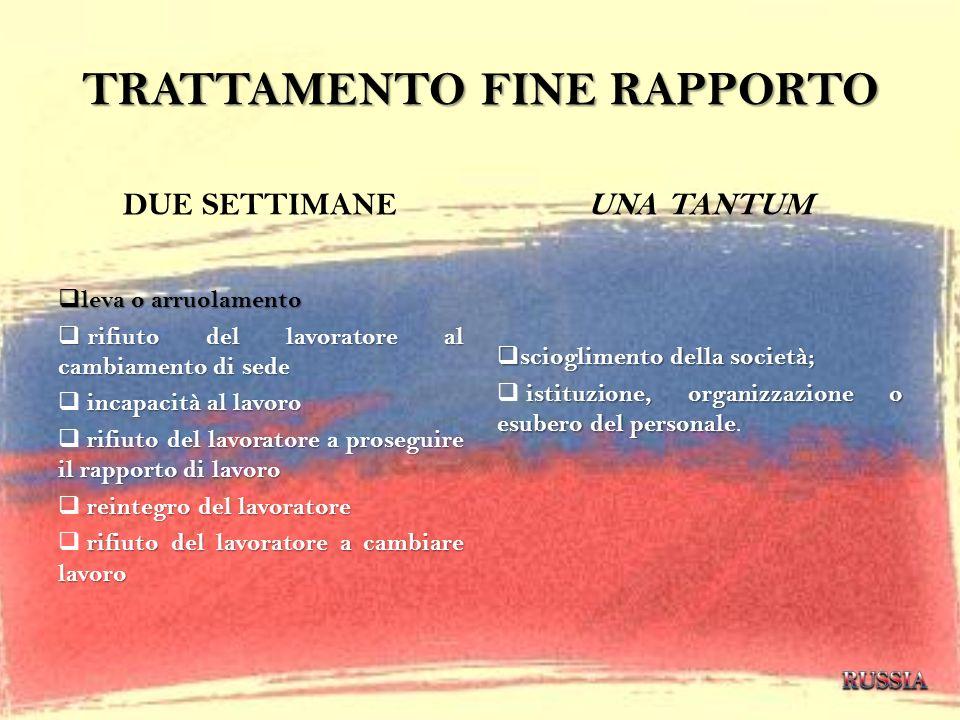 TRATTAMENTO FINE RAPPORTO