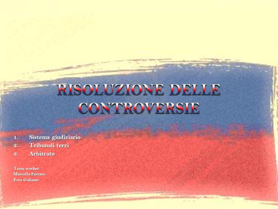 RISOLUZIONE DELLE CONTROVERSIE