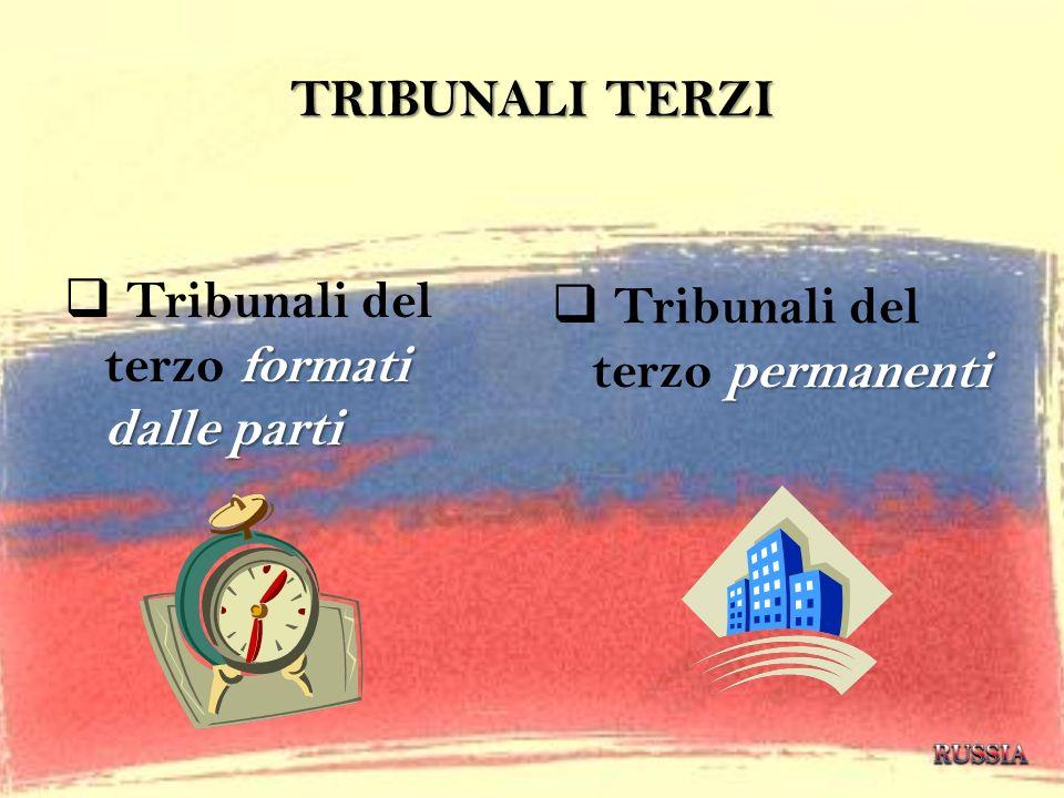 Tribunali del terzo formati dalle parti Tribunali del terzo permanenti