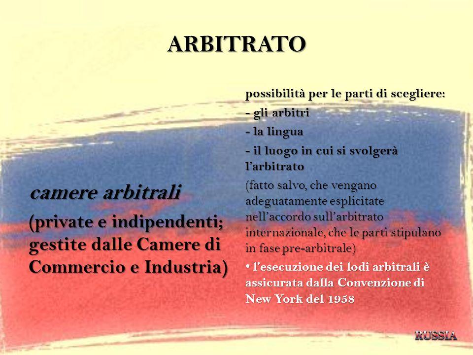 ARBITRATO camere arbitrali