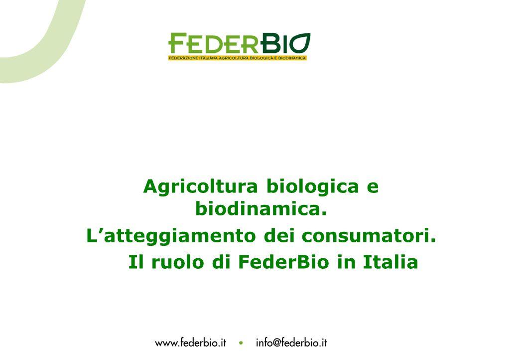 Agricoltura biologica e biodinamica. L'atteggiamento dei consumatori.