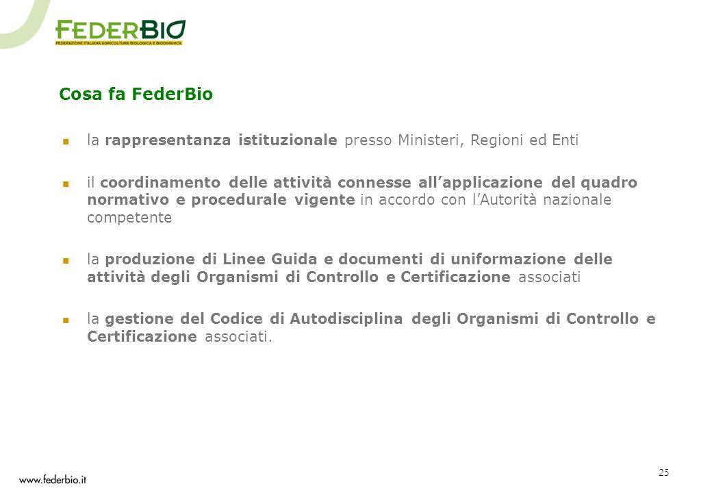 Cosa fa FederBio la rappresentanza istituzionale presso Ministeri, Regioni ed Enti.