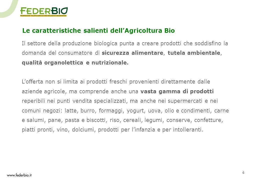 Le caratteristiche salienti dell'Agricoltura Bio