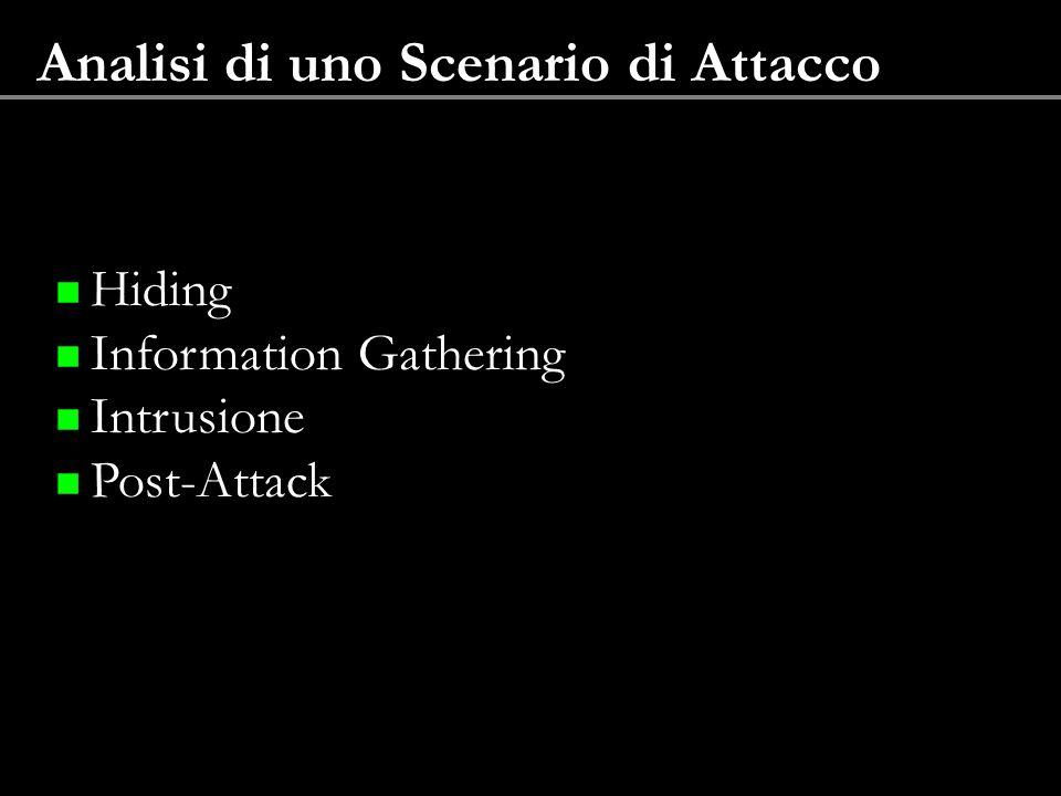 Analisi di uno Scenario di Attacco