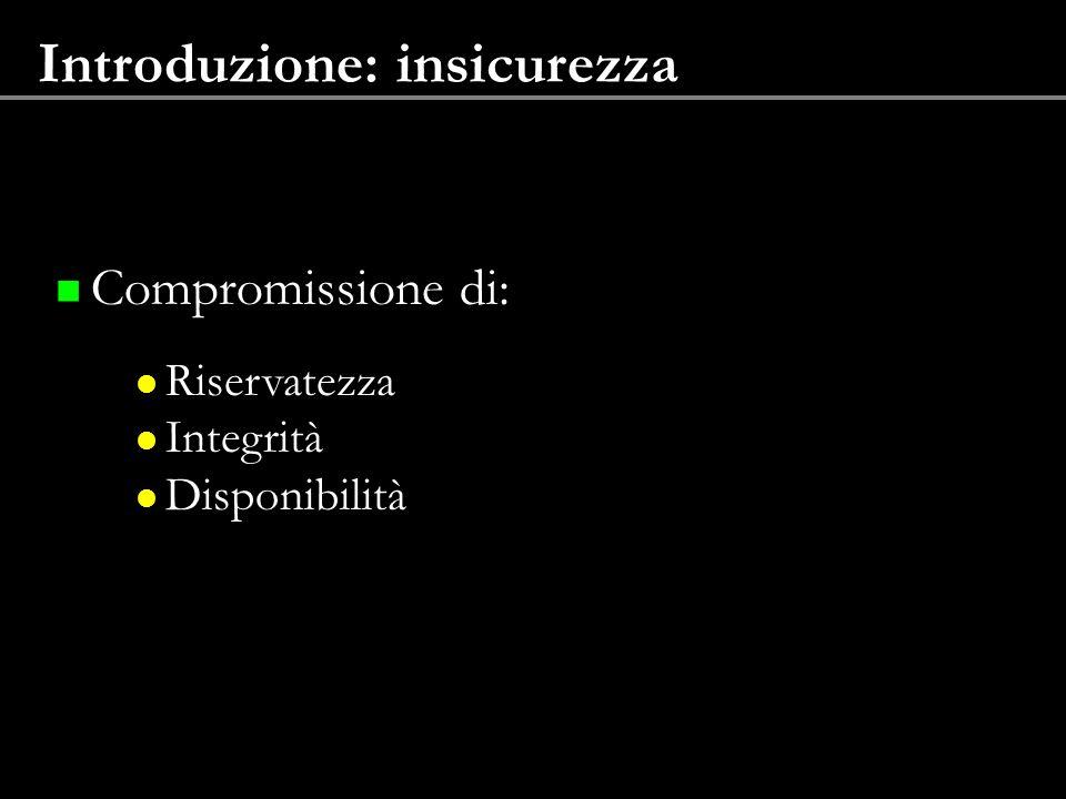 Introduzione: insicurezza