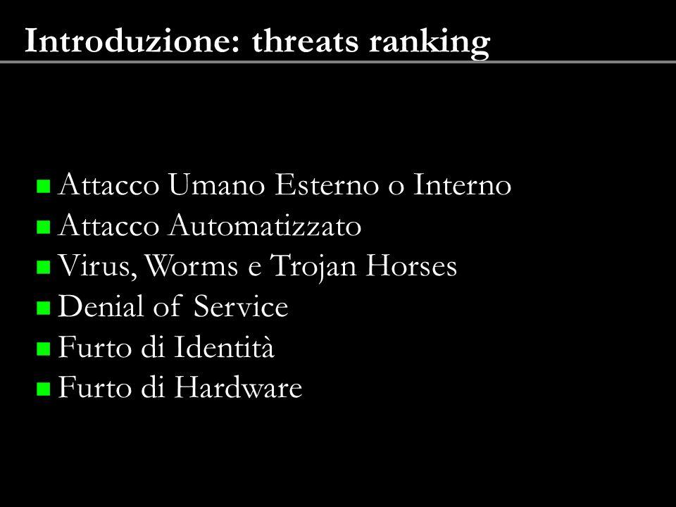 Introduzione: threats ranking