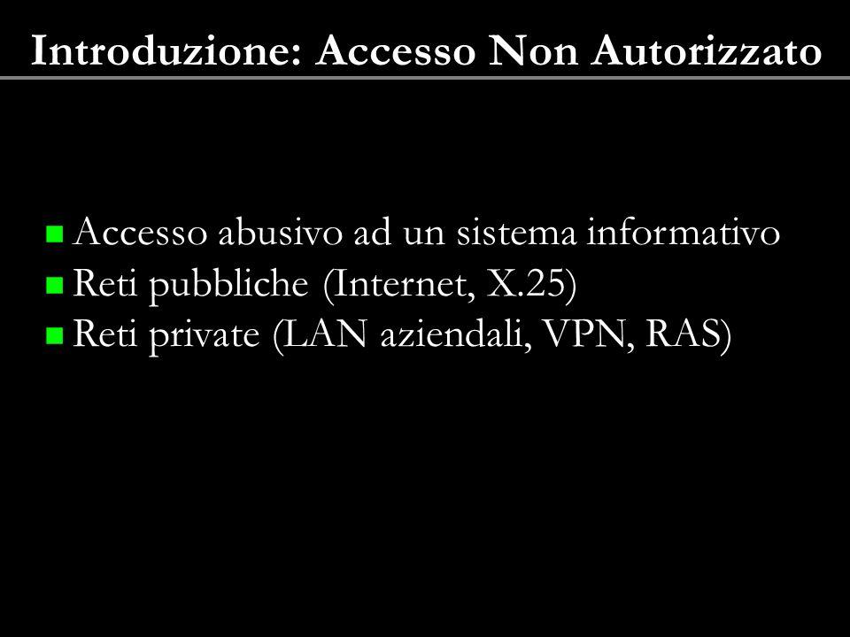 Introduzione: Accesso Non Autorizzato