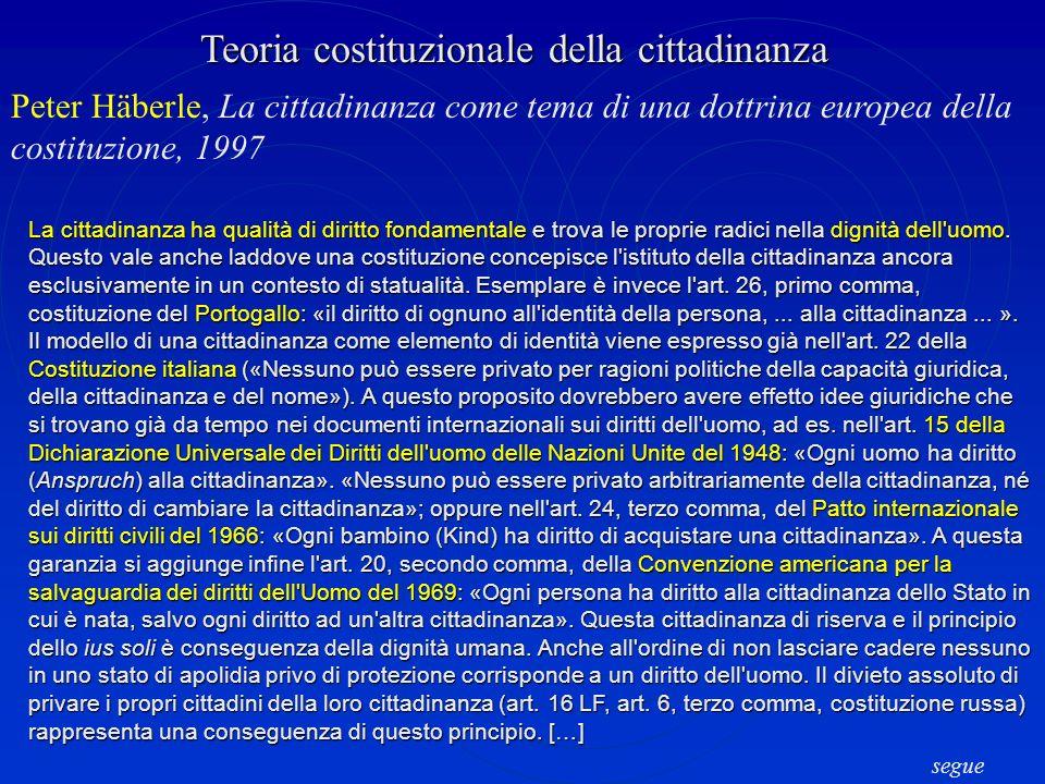 Teoria costituzionale della cittadinanza