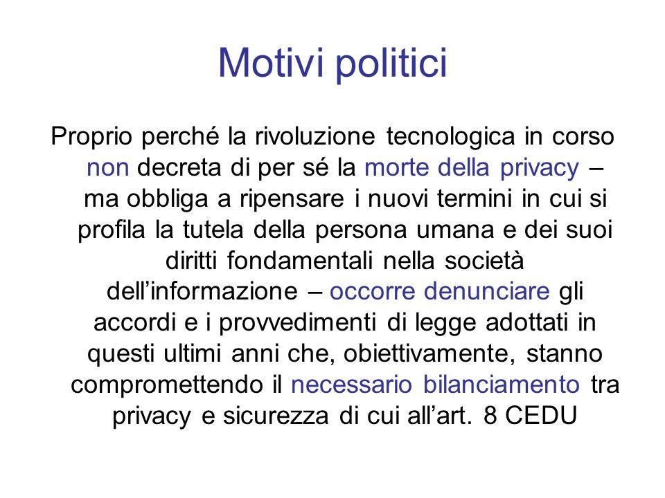 Motivi politici