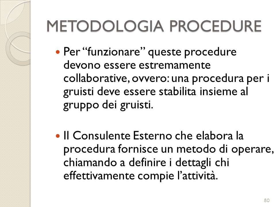 METODOLOGIA PROCEDURE