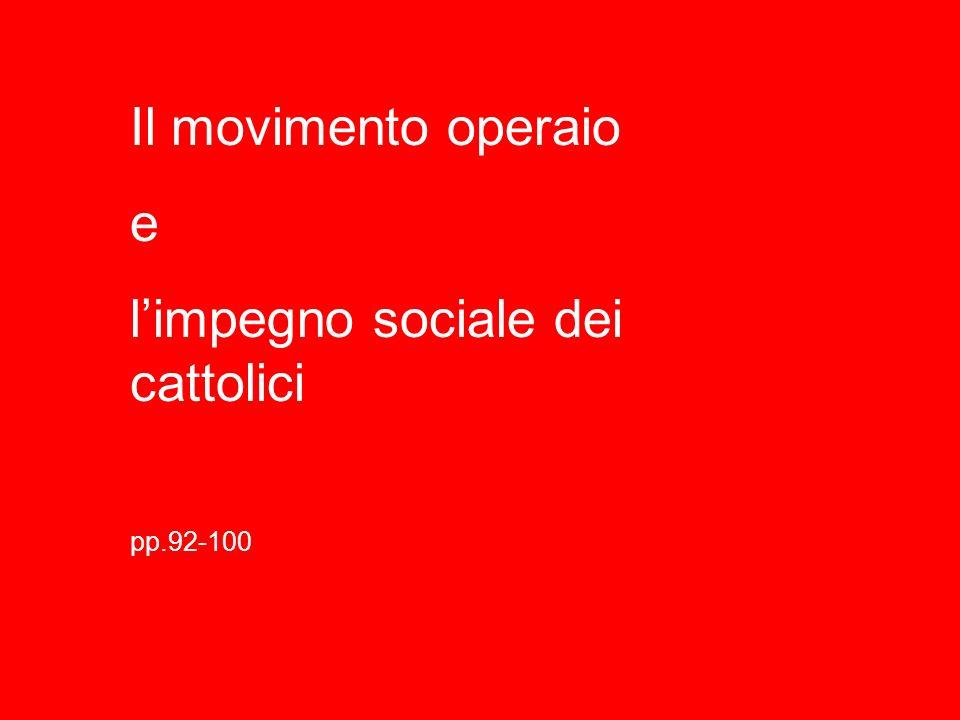 l'impegno sociale dei cattolici