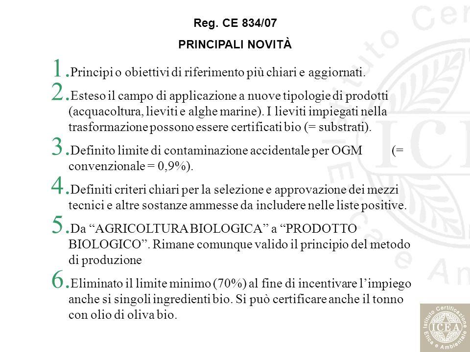 Principi o obiettivi di riferimento più chiari e aggiornati.