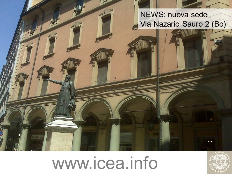 NEWS: nuova sede Via Nazario Sauro 2 (Bo)