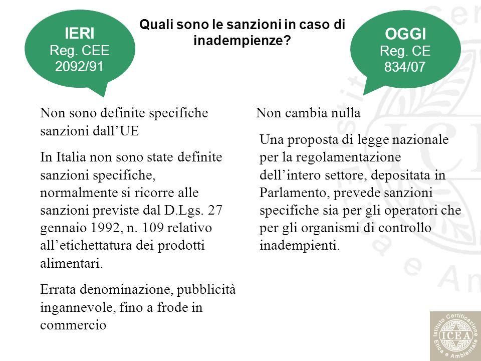 Quali sono le sanzioni in caso di inadempienze