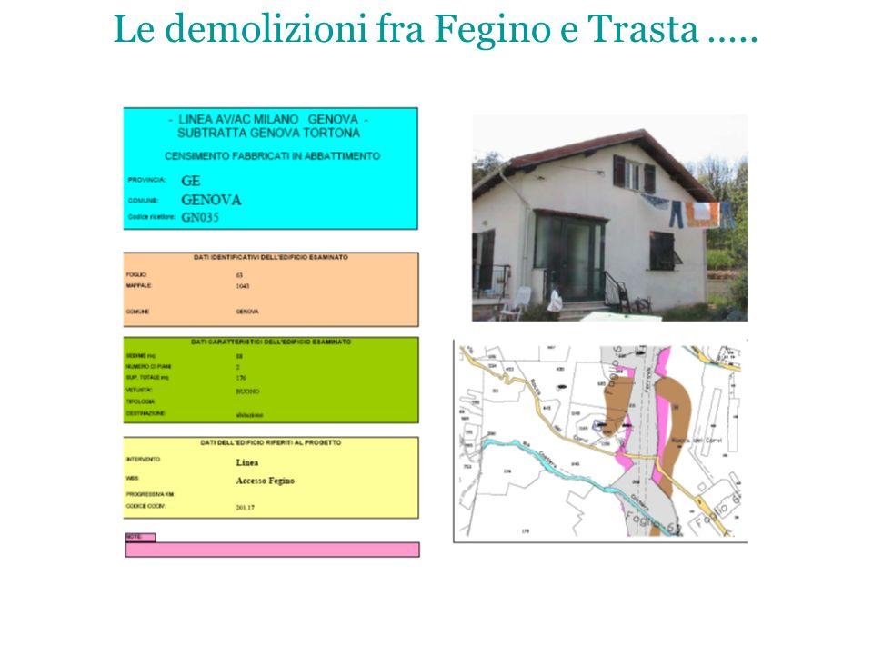 Le demolizioni fra Fegino e Trasta …..