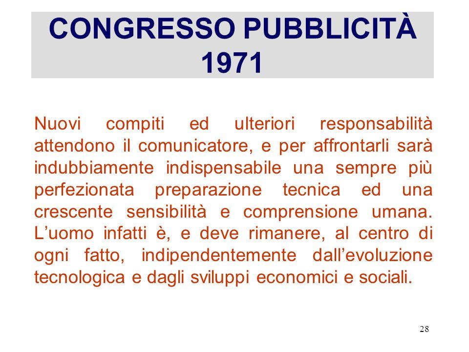 CONGRESSO PUBBLICITÀ 1971
