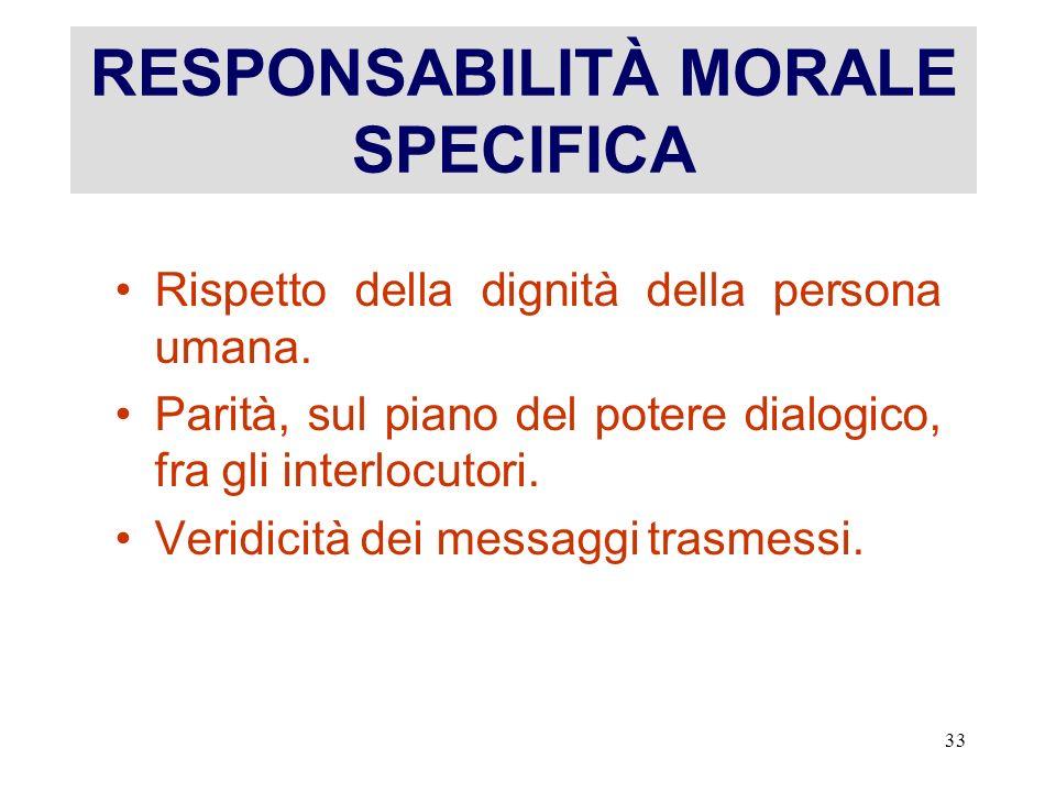 RESPONSABILITÀ MORALE SPECIFICA