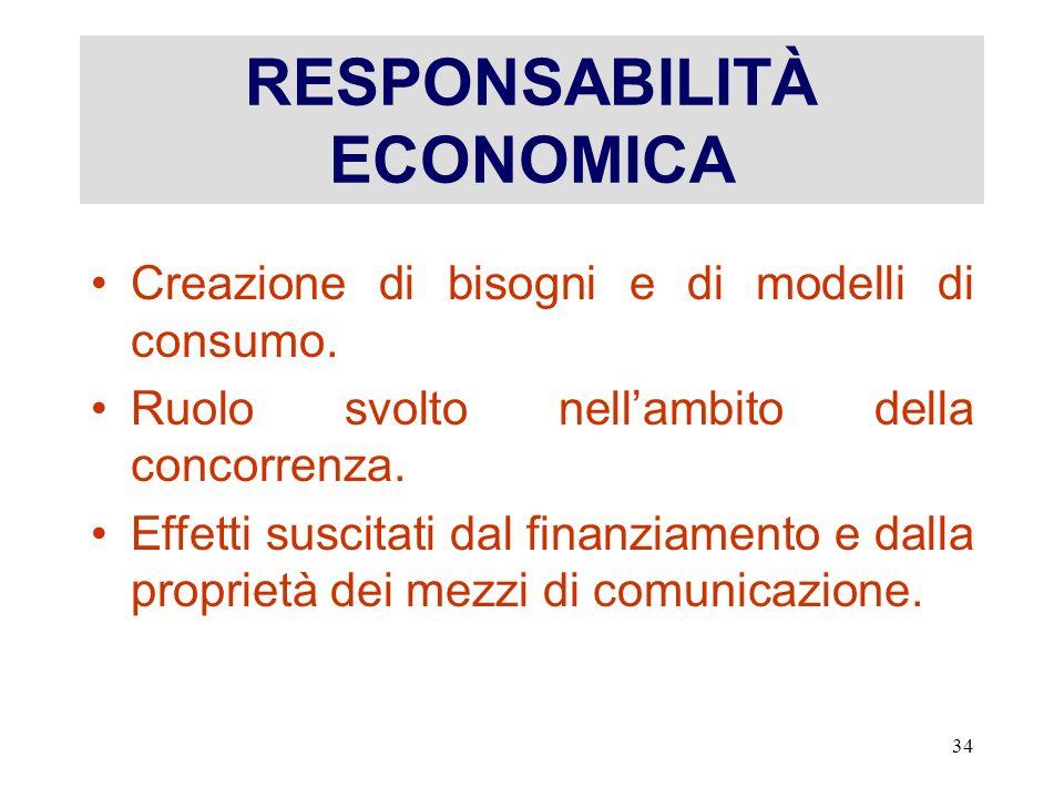 RESPONSABILITÀ ECONOMICA