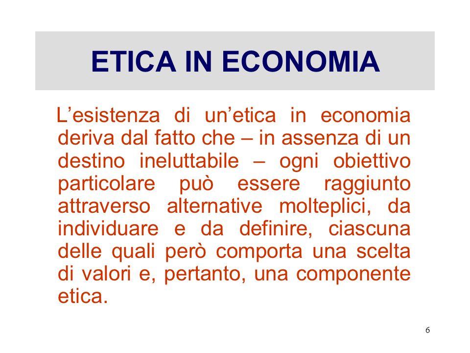 ETICA IN ECONOMIA