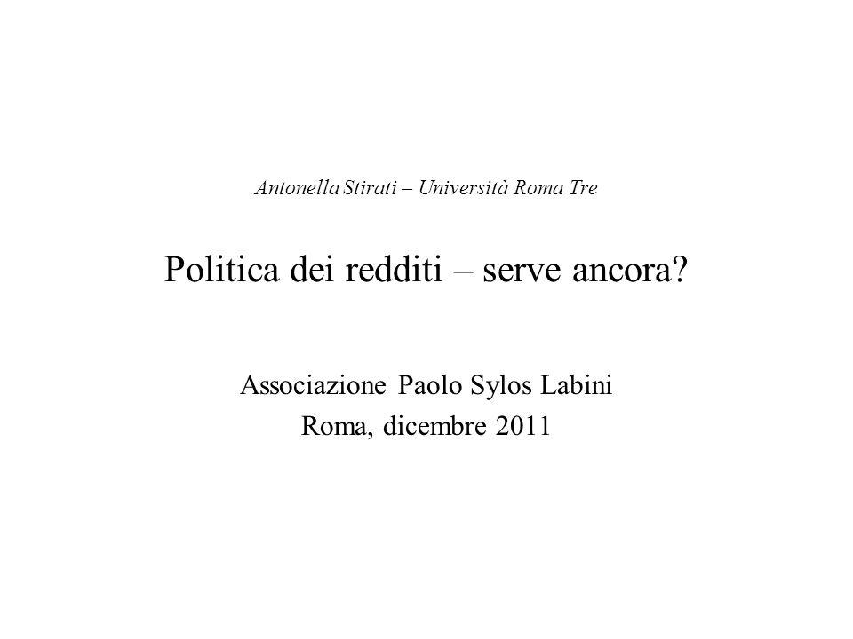 Associazione Paolo Sylos Labini Roma, dicembre 2011