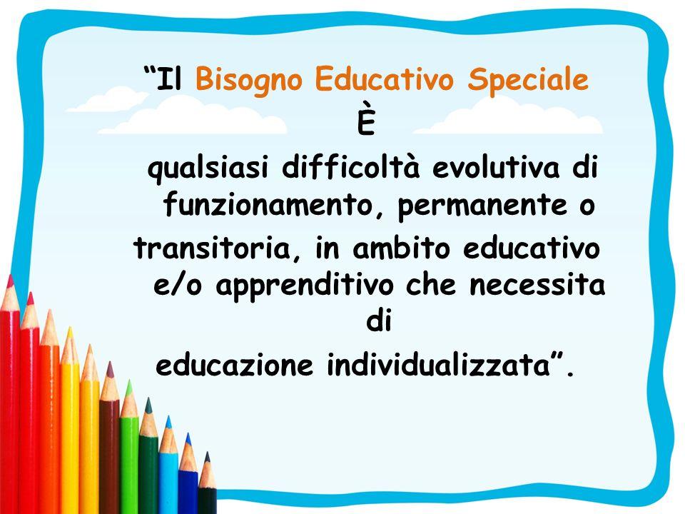 Il Bisogno Educativo Speciale È