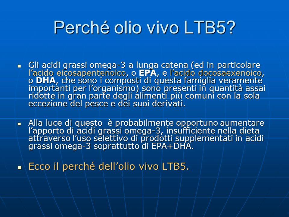 Perché olio vivo LTB5 Ecco il perché dell'olio vivo LTB5.
