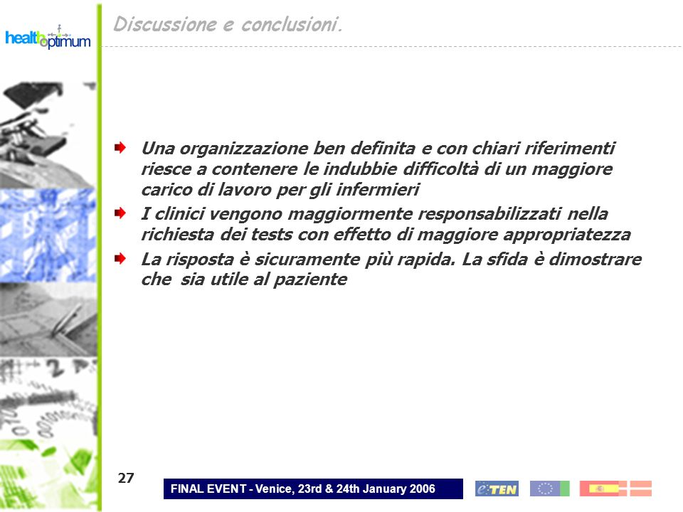 Discussione e conclusioni.