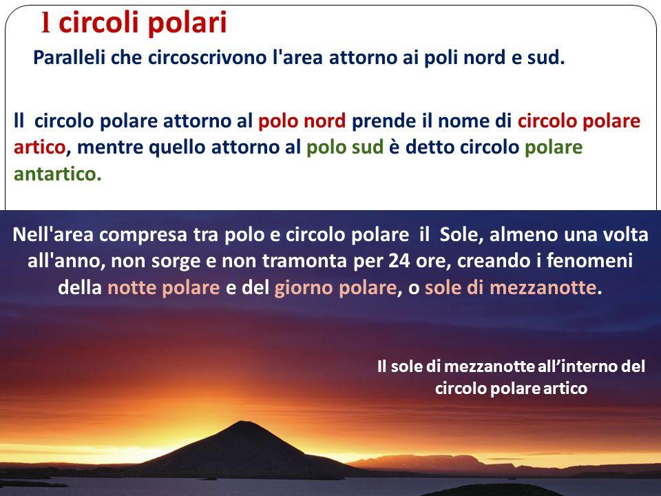 Il sole di mezzanotte all'interno del circolo polare artico