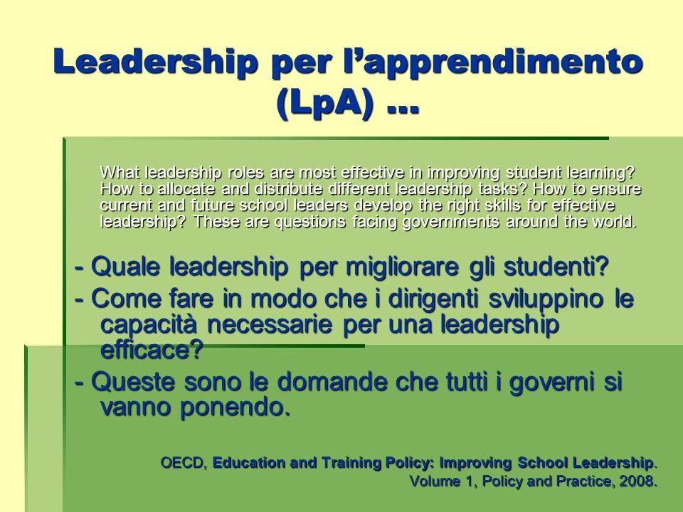 Leadership per l'apprendimento (LpA) …